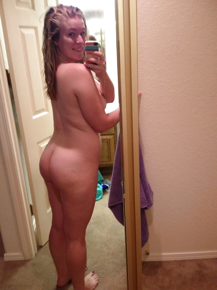 Teen with a big white ass
